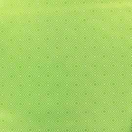 ♥ Coupon 60 cm X 150 cm ♥ Tissu coton Poppy Square - blanc/vert clair