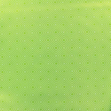 Poppy Fabric Square - white/green light