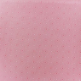 Poppy Fabric Square - white/pink light x 10cm