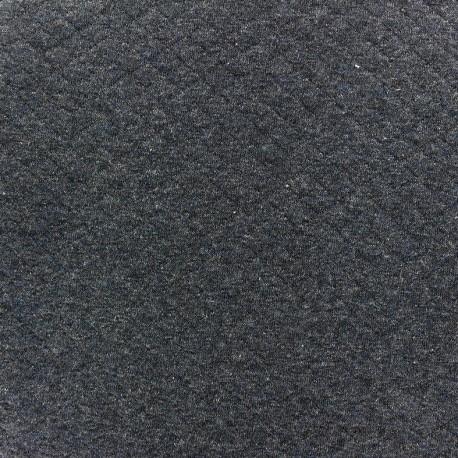 Quilted jersey fabric Diamonds 10/20 - mocked denim blue x 10cm