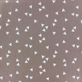Tissu coton Poppy Triangle - blanc/beige foncé x 10cm
