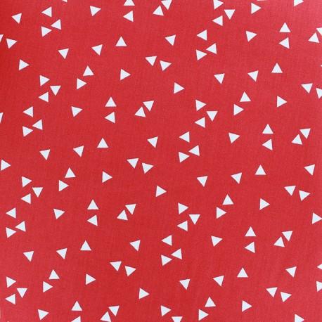 Poppy Fabric Triangle - white/red x 10cm