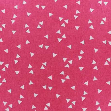Poppy Fabric Triangle - white/fuchsia x 10cm