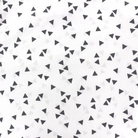 Poppy cotton Fabric - grey/white Triangle x 10cm