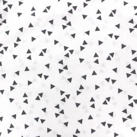 Poppy Fabric Triangle - grey/white x 10cm