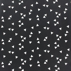 Poppy cotton Fabric - black white Triangle x 10cm