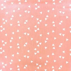 Tissu coton Poppy Triangle - blanc/rose clair x 10cm