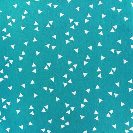 Poppy Fabric Triangle - white/blue azure x 10cm