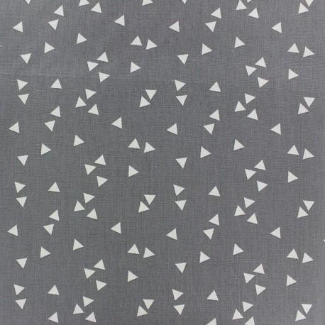 Poppy Fabric Triangle - white/grey x 10cm