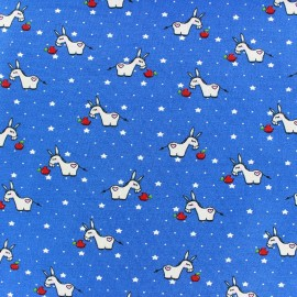 Tissu Jersey Donkey Starlet - bleu x 10cm