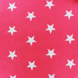 Poppy cotton Fabric - Fuchsia white star x 10cm