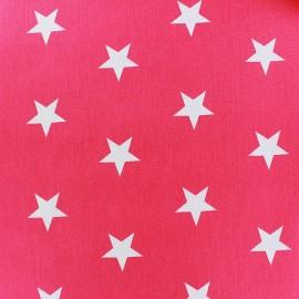 Tissu coton Grandes Etoiles - fuchsia x 10cm