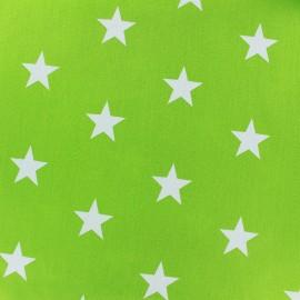 Tissu coton Grandes Etoiles - vert clair x 10cm