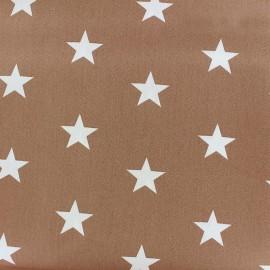 Tissu coton Grandes Etoiles - beige foncé x 10cm