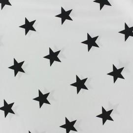 Tissu coton Etoiles - noir/blanc x 10cm