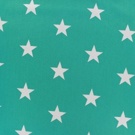 Poppy cotton Fabric - Azzure Big white star x 10cm