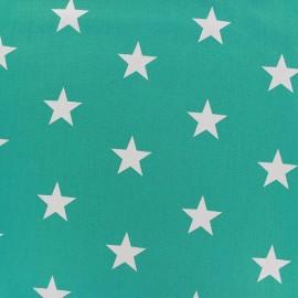 Tissu coton Grandes Etoiles - bleu azur x 10cm