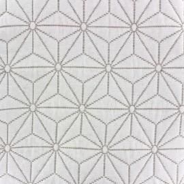 Damask jacquard fabric Comette (300cm) - linen x 10cm