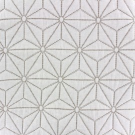 Tissu jacquard damassé Comette (300cm) - lin x 10cm