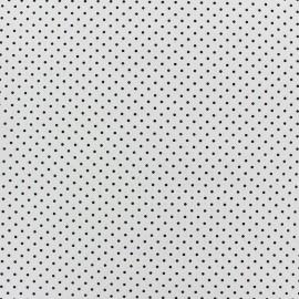 Tissu coton mini pois - noir/blanc x 10cm