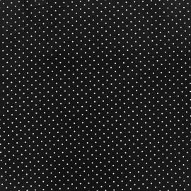 Tissu coton mini pois - blanc/noir x 10cm