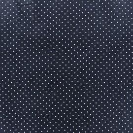 Cotton fabric Mini pois - white/blue navy x 10cm