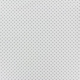 Tissu coton mini pois - gris clair/blanc x 10cm