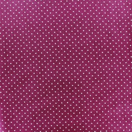 Cotton fabric Mini pois - white/purple x 10cm