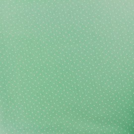 Cotton fabric Mini pois - white/green jade x 10cm