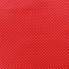 Cotton fabric Mini pois - white/red x 10cm