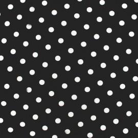 Tissu coton pois 7mm - blanc/noir x 10cm
