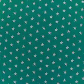Tissu coton Etoiles - blanc/bleu azur x 10cm