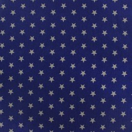 Poppy cotton Fabric - navy white star x 10cm