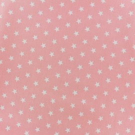 Poppy cotton Fabric - light pink white star x 10cm