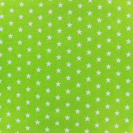 Poppy cotton Fabric - lime green white star x 10cm