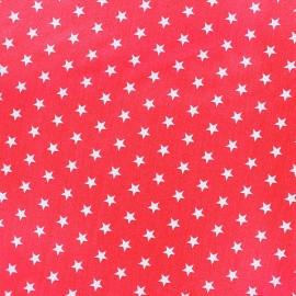 Tissu coton Etoiles - blanc/fuchsia x 10cm
