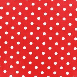 Tissu coton pois 7mm - blanc/rouge x 10cm