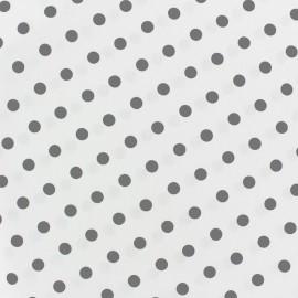 Tissu coton pois 7mm - gris clair/blanc x 10cm