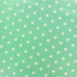 Cotton Fabric pois 7 mm - white/green jade x 10cm