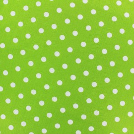 Cotton Fabric pois 7 mm - white/green light x 10cm