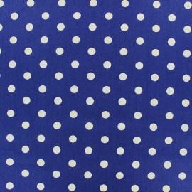 Tissu coton pois 7mm - blanc/bleur navy x 10cm