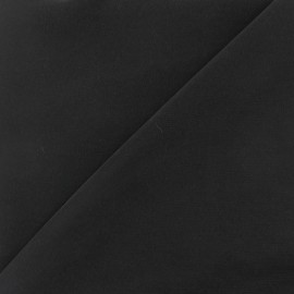 Imitation washed silk fluid fabric - black x 10cm
