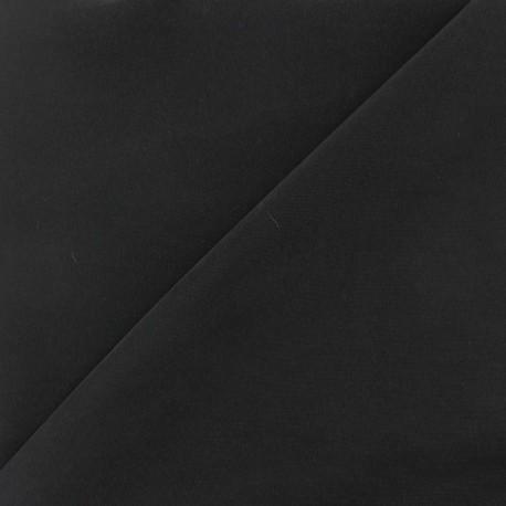 Tissu fluide effet soie lavée - noir x 10 cm