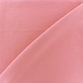 Tissu fluide effet soie lavée - rose x 10 cm