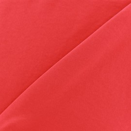 Imitation washed silk fluid fabric - red x 10cm