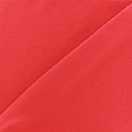 Imitation washed silk fluid fabric - red x 10cm