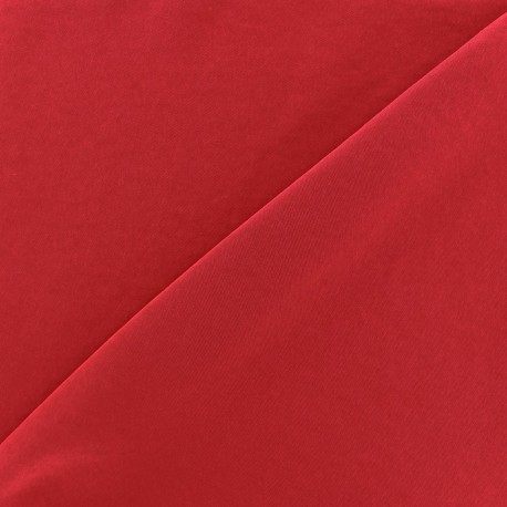 Imitation washed silk fluid fabric - carmine x 10cm