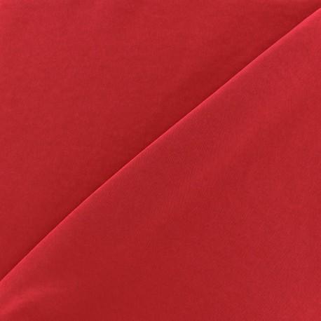 Tissu fluide effet soie lavée - carmin x 10 cm