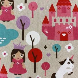 Tissu toile coton - Princess x 30cm