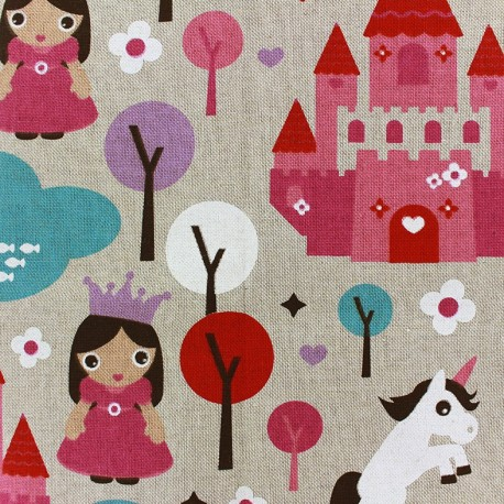 Cotton Canvas Fabric - Princess x 30cm